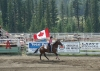 Canadian Flag being carried by Cariboo Cowgirl.