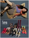 Advertisement for Sirens on the BLVD Shoe Store modeled by Josie Lee.