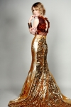 Basil Gold Sequined Serpentina Dress