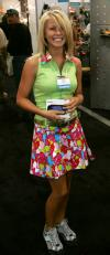 A young Julianna Hough in our Austin Powers dress for a tradeshow